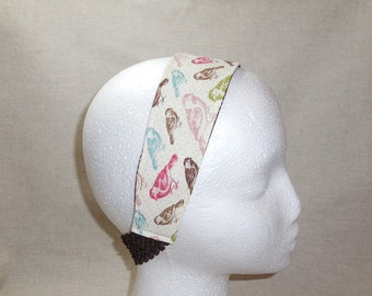 Pretty Pastel Bird Fabric Headband