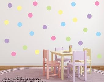 Polka Dot Wall Art Etsy - Wall decals polka dots