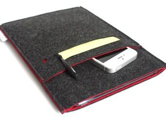 iPad Pro Sleeve, iPad Pro 12.9, iPad Pro 9.7, iPad Cover, iPad Case, iPad Mini 4, iPad Air 2 Case, iPad- Minimalist- Grafitti Black & Red