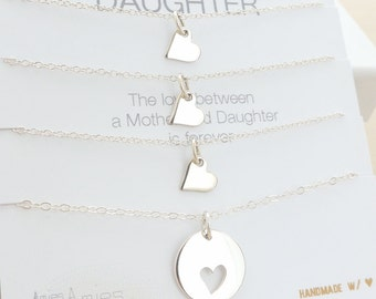 Mother Daughter Necklace - Mother Daughter Jewelry - Mother Daughter Gift - Delicate Necklace - Sterling Silver Jewelry - Three Daughters