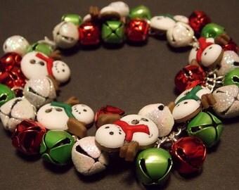 Snowman Jingle Bell Bracelet