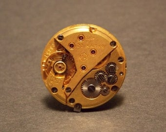 Gold Watch Movement Ring