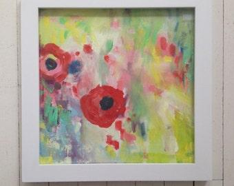 Poppy Honey 1-- The original art in frame