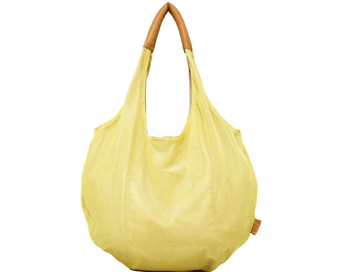 Yellow Hobo Bag, Large Spring / Summer Canvas Bag