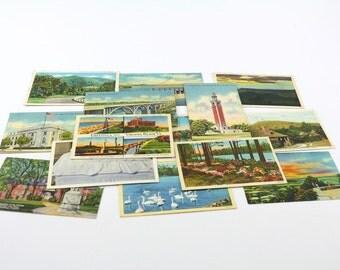 14 Lithograph Virginia Postcards