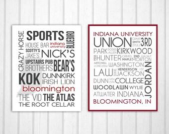 Indiana University Set: Bloomington Bars and Street Names