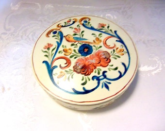 Round Wooden Handpainted Box