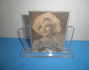 Lucite Mid Century Frame Deco Picture Marilyn Monroe