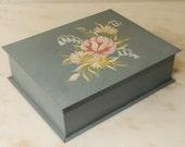 Tole Painted Box Metal Handpainted