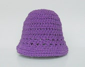 Infant Purple  Hat  Baby Boy Violet Spring Cotton  Cap 3 To 9 Months Baby Girl Summer Lavender Lilac Beanie