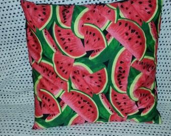 "watermelon fruit , decorative pillow,   cushion cover 16"" x 16"""