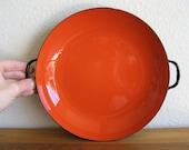 Vintage Enamel Cookware-Paella Pan-Italy