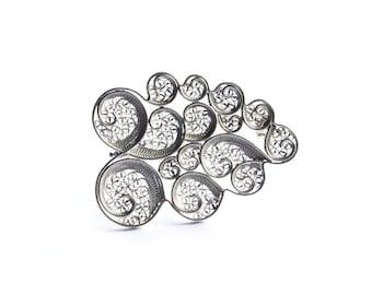 Passing Cloud Brooch / Cloud Jewellery / Handmade Silver Brooch