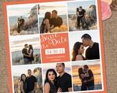Save the Date Wedding Invitation / Multiple Photo Background / Invite Wedding or Shower DESIGN / Custom Color / DIY Printable