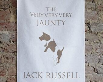 Jack Russell Tea Towel, Jack Russell Gift, Jack Russell Present, JRT, jack russell terrier, jack russell terrier present, jack russell dish