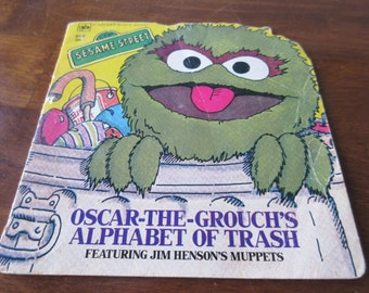 Vintage Oscar the Grouch's Alphabet of Trash book, softcover