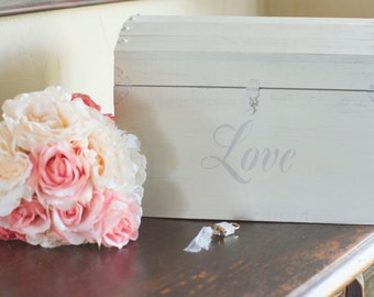Love Card Box with a Lock and Key by Burlap and Linen Co