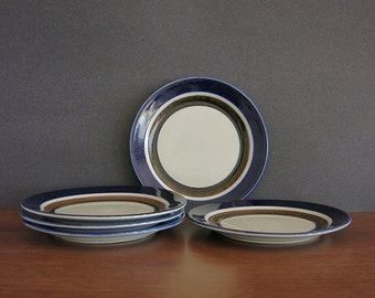 Vintage Arabia Saara Bread Plate - Arabia Finland - 1970s Anja Jaatinen-Winquist Design - Scandinavian Mid Century Modern - 5 Available