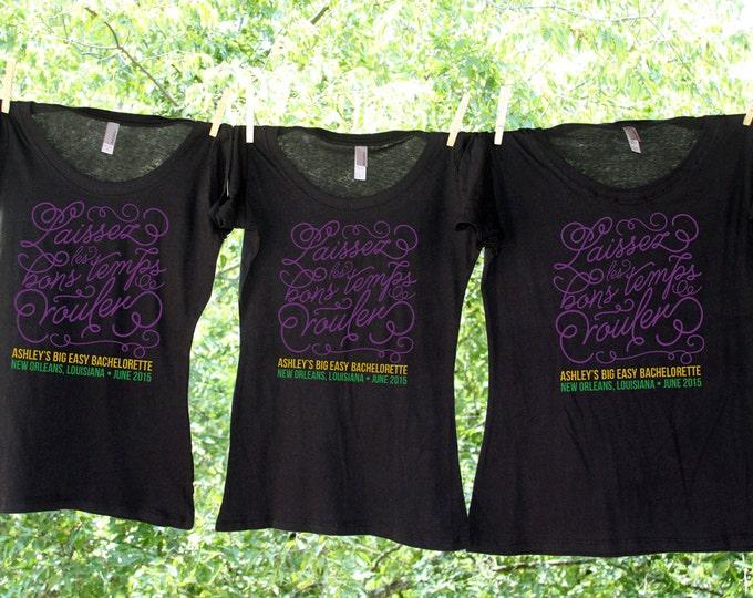 New Orleans Laissez Les Bons Temps Rouler - Bachelorette Bash Personalized Bachelorette Party Shirts - Sets - TW