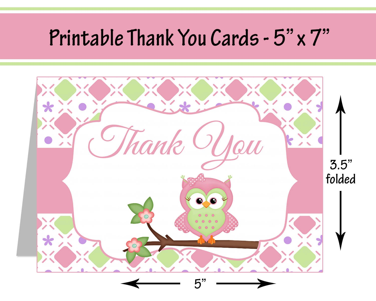 Bright image throughout printable baby shower thank you cards
