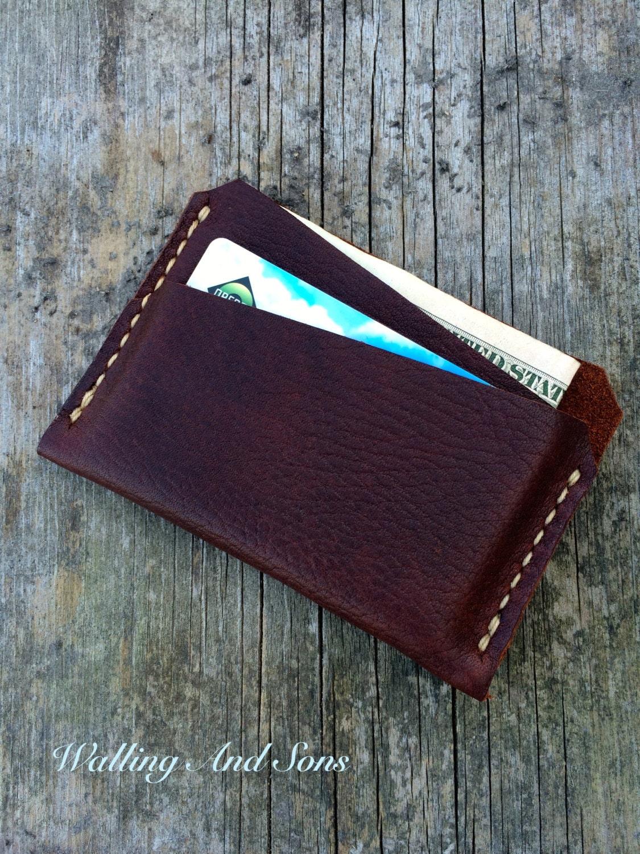 Slim Mens Wallet Leather Wallet Handmade Full Grain Leather