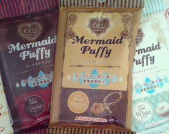 SALE mermaid puffy air dry clay 60 gram (biscuit/ white/ chocolate) for accessories