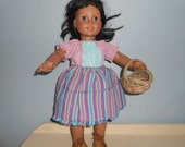 18 inch Josephina or any other American Girl 3 piece outfit, skirt, peasant top, and basket by Project Funway on Etsy