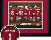 PERSONALIZED & FRAMED NFL San Francisco 49ers Sports Print