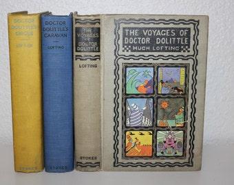 Doctor Dolittle, Hugh Lofting, Vintage Dr. Dolittle, Vintage Books, Antique Books, Collectible Books, Children's Stories, Animal Stories