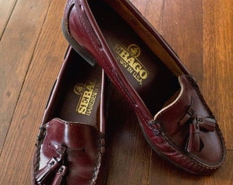 Women's Hand-Sewn Tassel Loafers with Moc-toe by Sebago Sz: 5 Made in USA