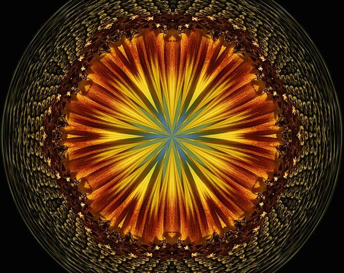 Sunflower Orb, Fine Art, Photo Art, Digital Art, Photography, Abstract Art