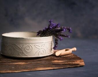 Serving Bowl, Ceramic Bowl, White Serving Bowl, Large Fruit Bowl, Ceramic Rustic Bowl, White Modern Bowl, Decorative Bowl, READY TO SHIP