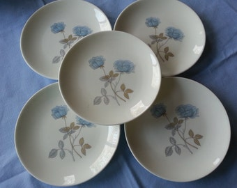Set of 5 Wedgwood Tea, Bread Butter Plates, Ice Rose Pattern, made in England, Bone China, 2 Sets Available