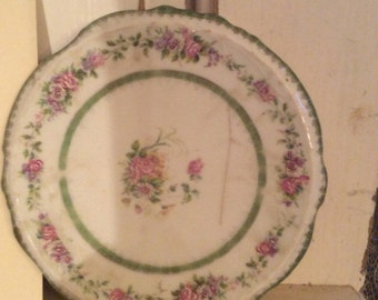 Antique painted floral trivet