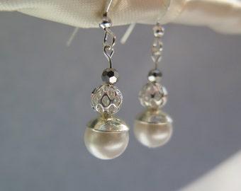 Classic White earrings