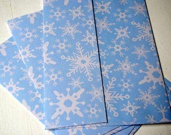 Winter Snowflakes Patterned Set of 3 Handmade Envelopes by Paper Hearts Station on Etsy