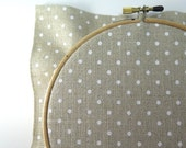 32 ct Cross Stitch Fabric - White Polka Dot on Natural Linen Polka Dot Linen Needlework Fabric