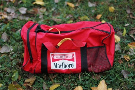 Vintage Marlboro Bag Duffle Bag Overnight Bag Cigarettes