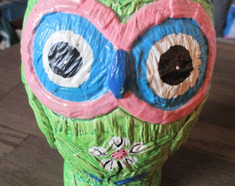 Vintage Retro Owl Piggy Bank