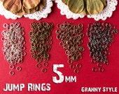 New 5mm Jump Rings Jumprings - 21 gauge — 100 Pack