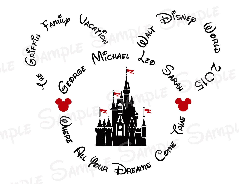 Disney world castle custom diy printable by twobytutucreations for Diy disney shirt template