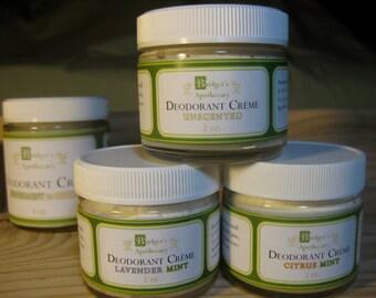 Natural Deodorant Creme, CITRUS-MINT 2 ounce Jar