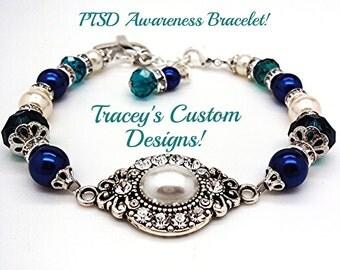 Stunning PTSD Awareness Keepsake Bracelet - Custom made designs.