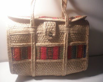 Basketweave Beach Summer Bag