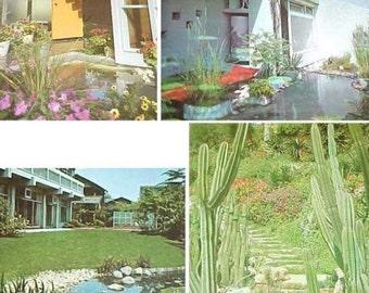 1968 McCall's Garden Book Mid Century Modern gardening landscaping design book