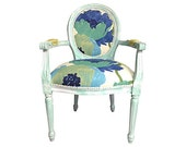 Items Similar To Floral Dining Arm Chair Painted And