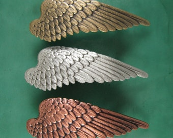 Angel Wing French Barrette 70mm- Hair Accessories- French Barrette- Barrettes and Clips