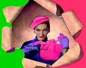 Vintage 1940s Town and Country Roller Hat & Bag Set 314 PDF Digital Crochet Pattern