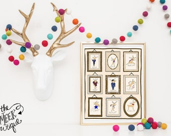 INSTANT DOWNLOAD, Reindeer Frames, No. 241