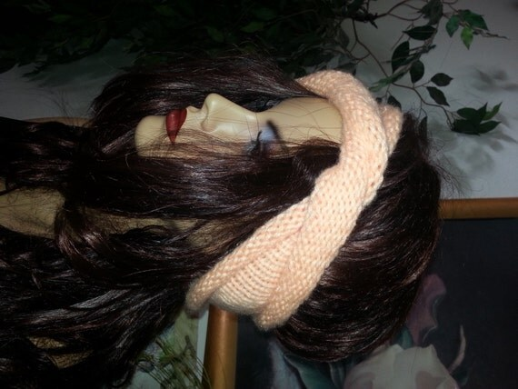 Reversible Headband Knitting Pattern : The Reversible Rolled Turban Earwarmer, Headwrap, Headband ...